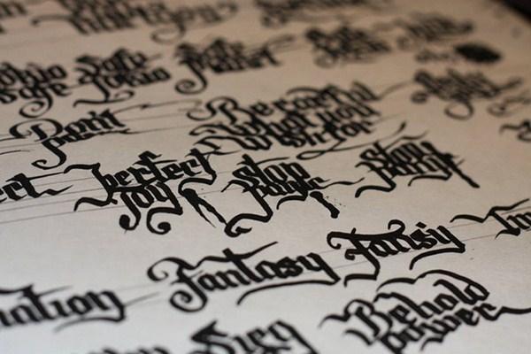 caligrafia para inspirarse