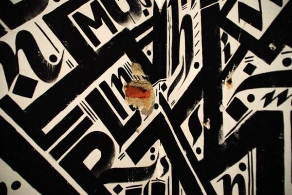 fotografia de caligrafia urbana