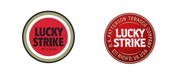 lucky strike rediseño de logo