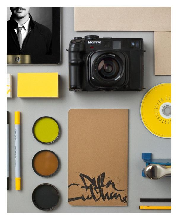 identidad y aplicaciones de fotografo dylan culhane