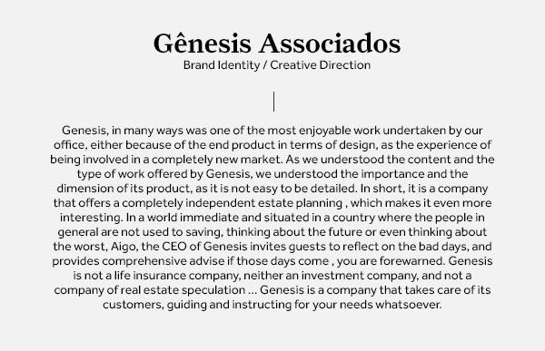 identidad website de Gênesis brasil